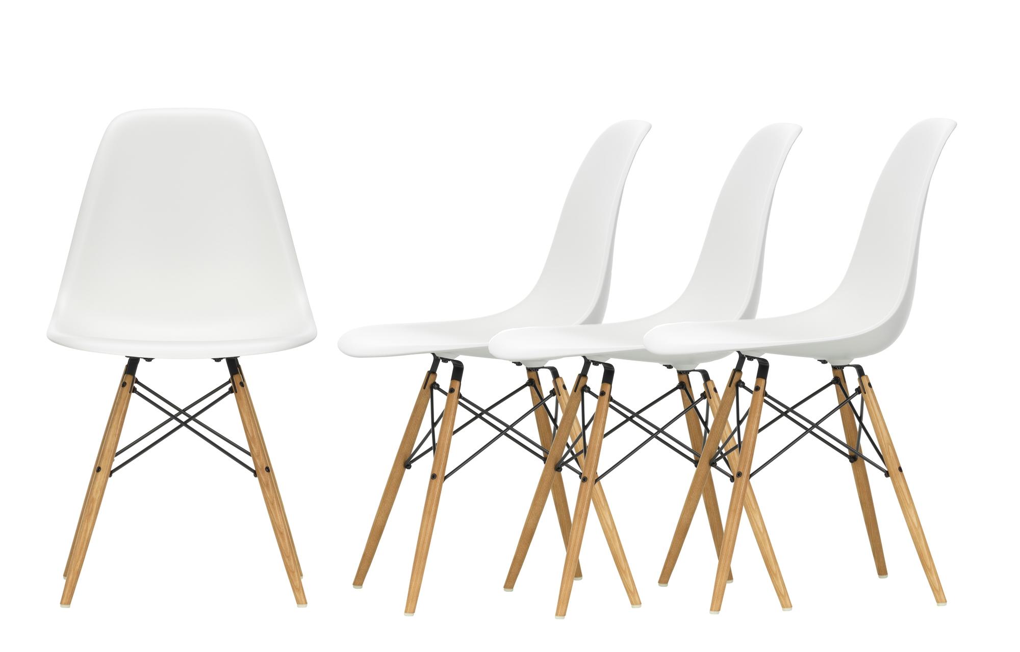 Aktion Eames Plastic Side Chair DSW Stuhl 4-er Set Vitra