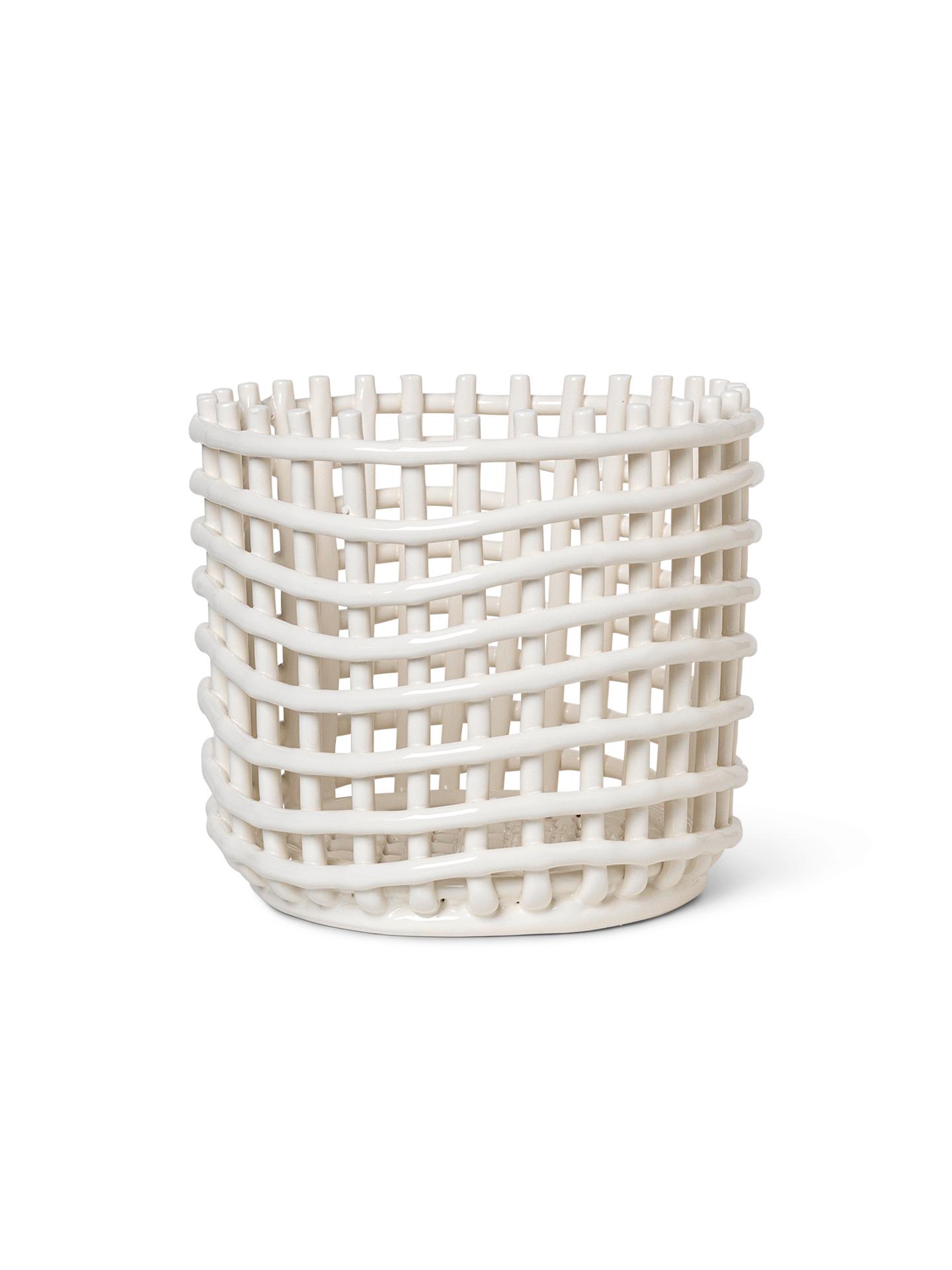 Ceramic Basket Keramik Korb groß Ferm Living