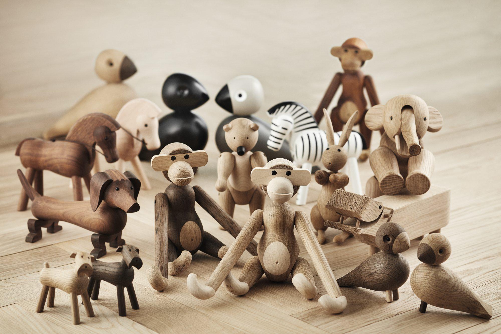 Affe klein Holzfigur Eiche geräuchert Kay Bojesen