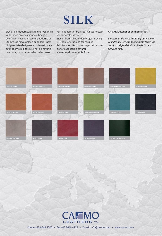 Ledermusterkarte Silk Camo Leathers