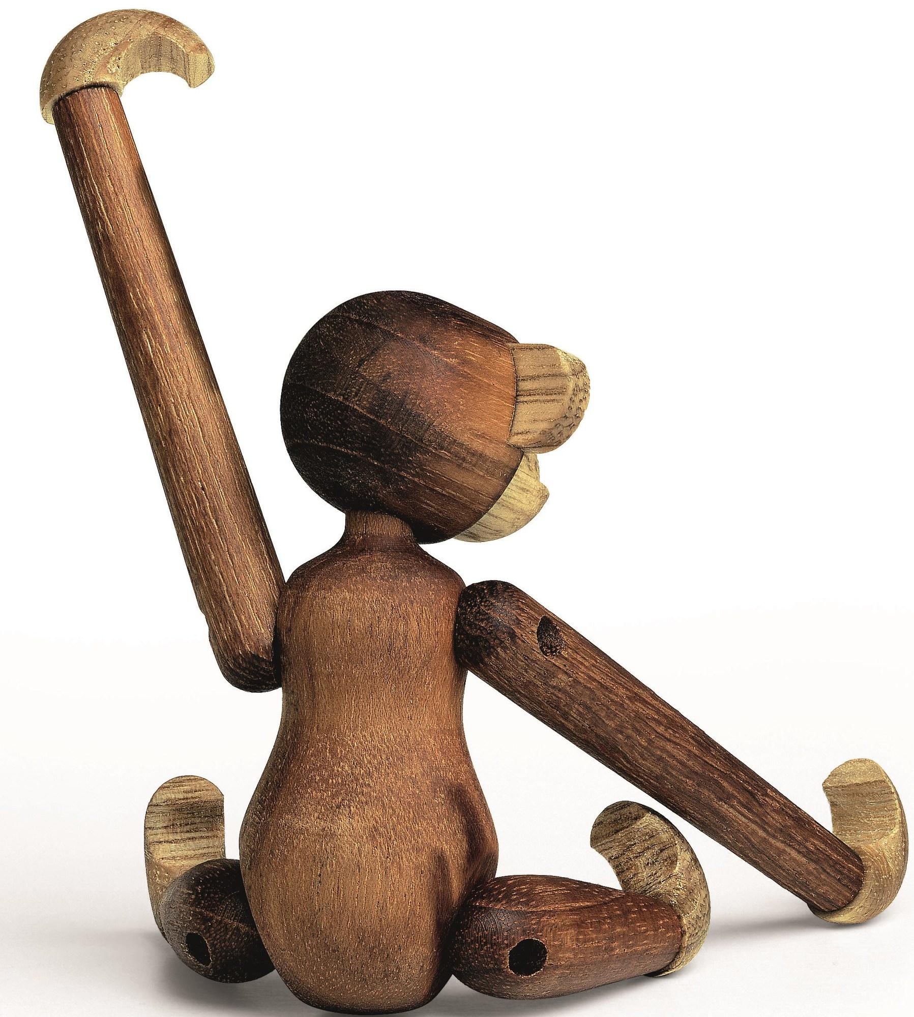 Affe mini Holzfigur Teak Kay Bojesen