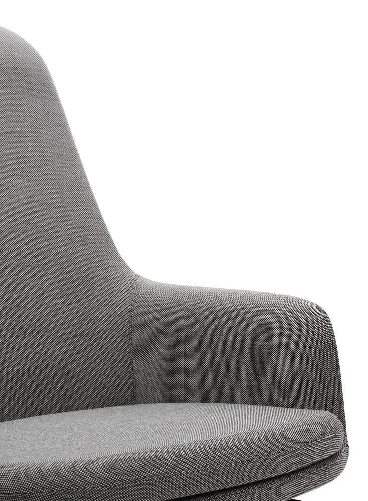 Era Lounge Chair Sessel hoch Normann Copenhagen MIT Fußhocker grau EINZELSTÜCK