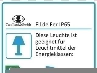 Fil de Fer IP65 LED Outdoor-Bodenleuchte Catellani & Smith