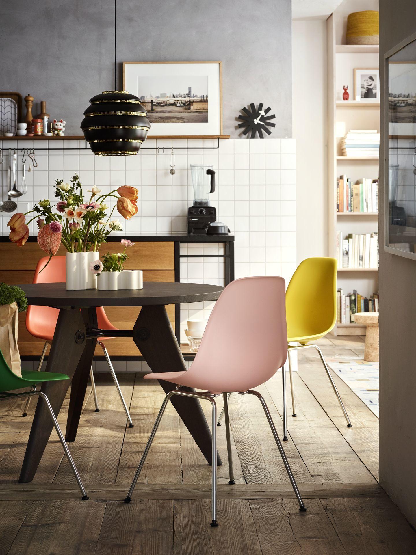 Eames Plastic Side Chair DSX Stuhl Vitra Farben 2019 Schwarz - Granitgrau