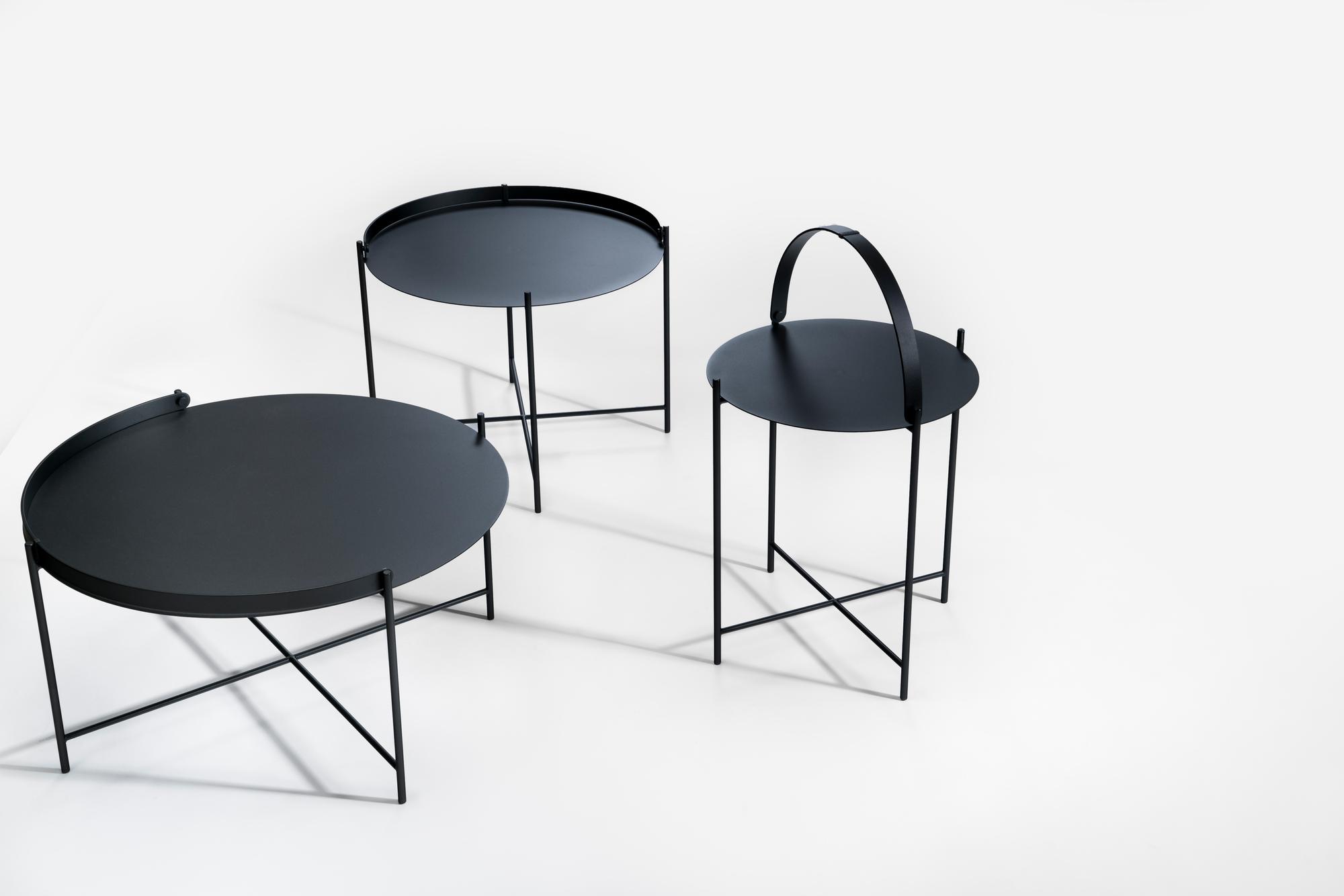 Edge Tray Table Beistelltisch klein schwarz Houe