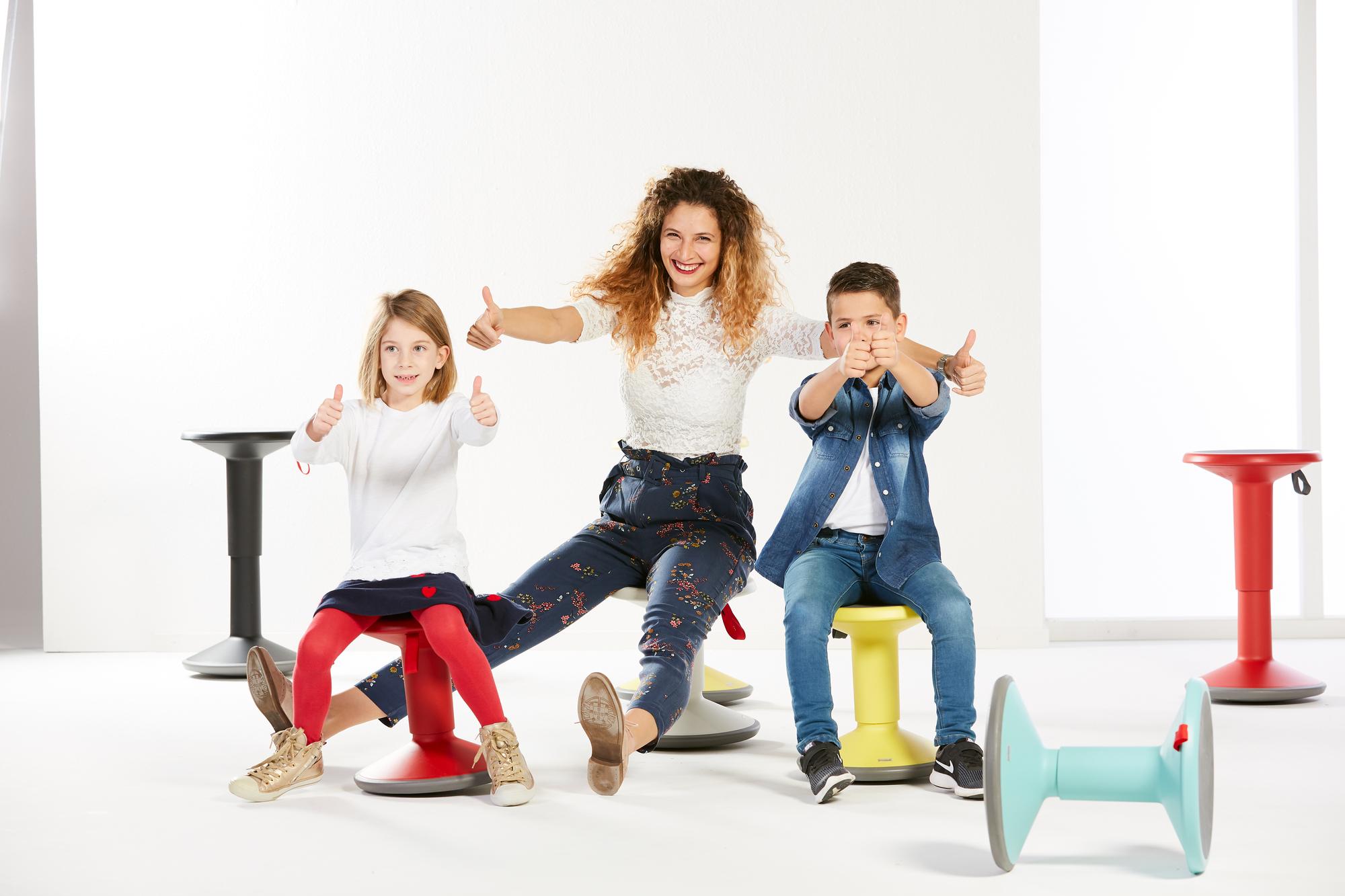 UP Junior Edition Kinderhocker Interstuhl lachsorange