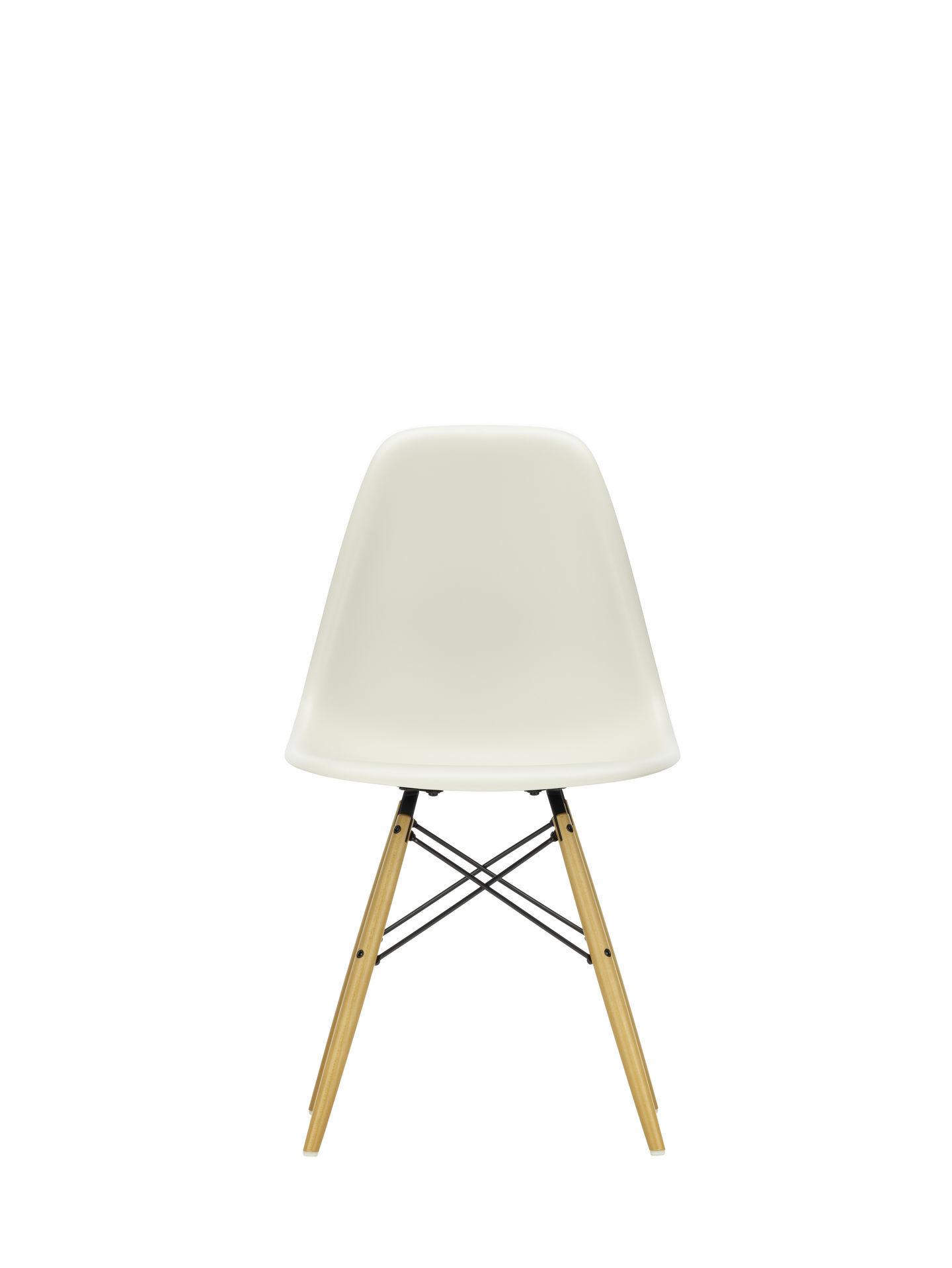 Eames Plastic Side Chair DSW Stuhl Vitra Ahorn dunkel-Grün