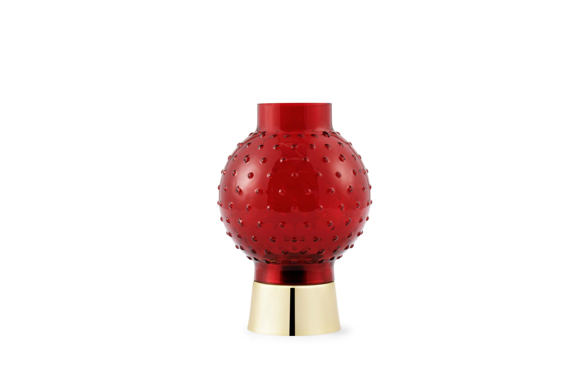 Story Windlicht Lollipop Rot Tivoli by Normann Copenhagen