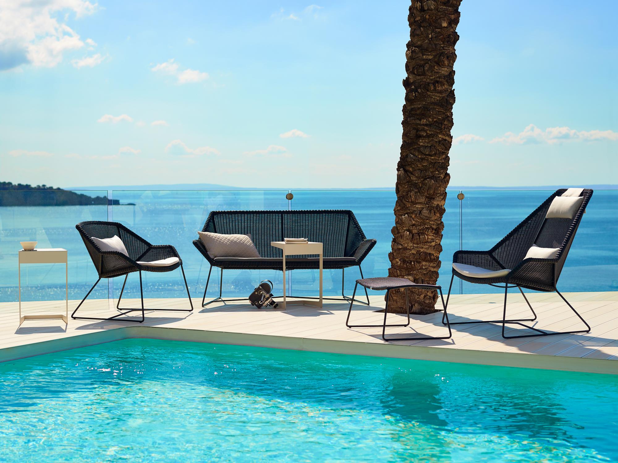 Breeze Outdoor Loungesessel schwarz Cane-Line