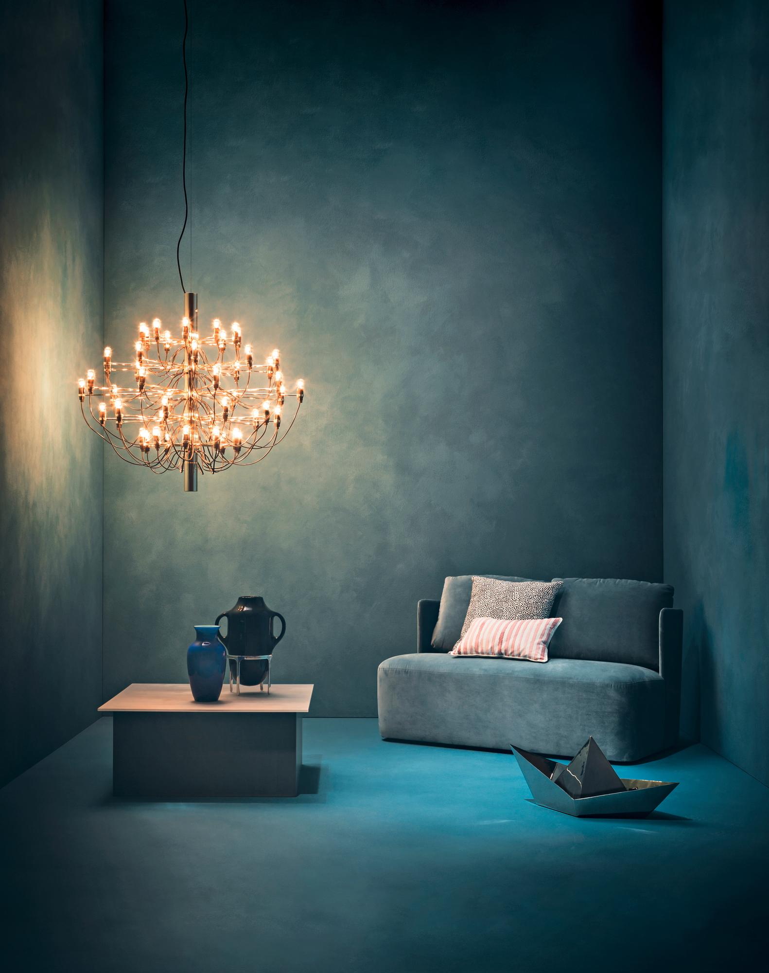 2097 / 30 Pendelleuchte LED Flos Messing