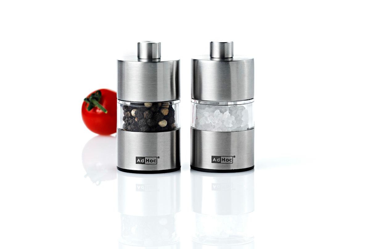 2-er Set Mini Pfeffer- oder Salzmühle AdHoc