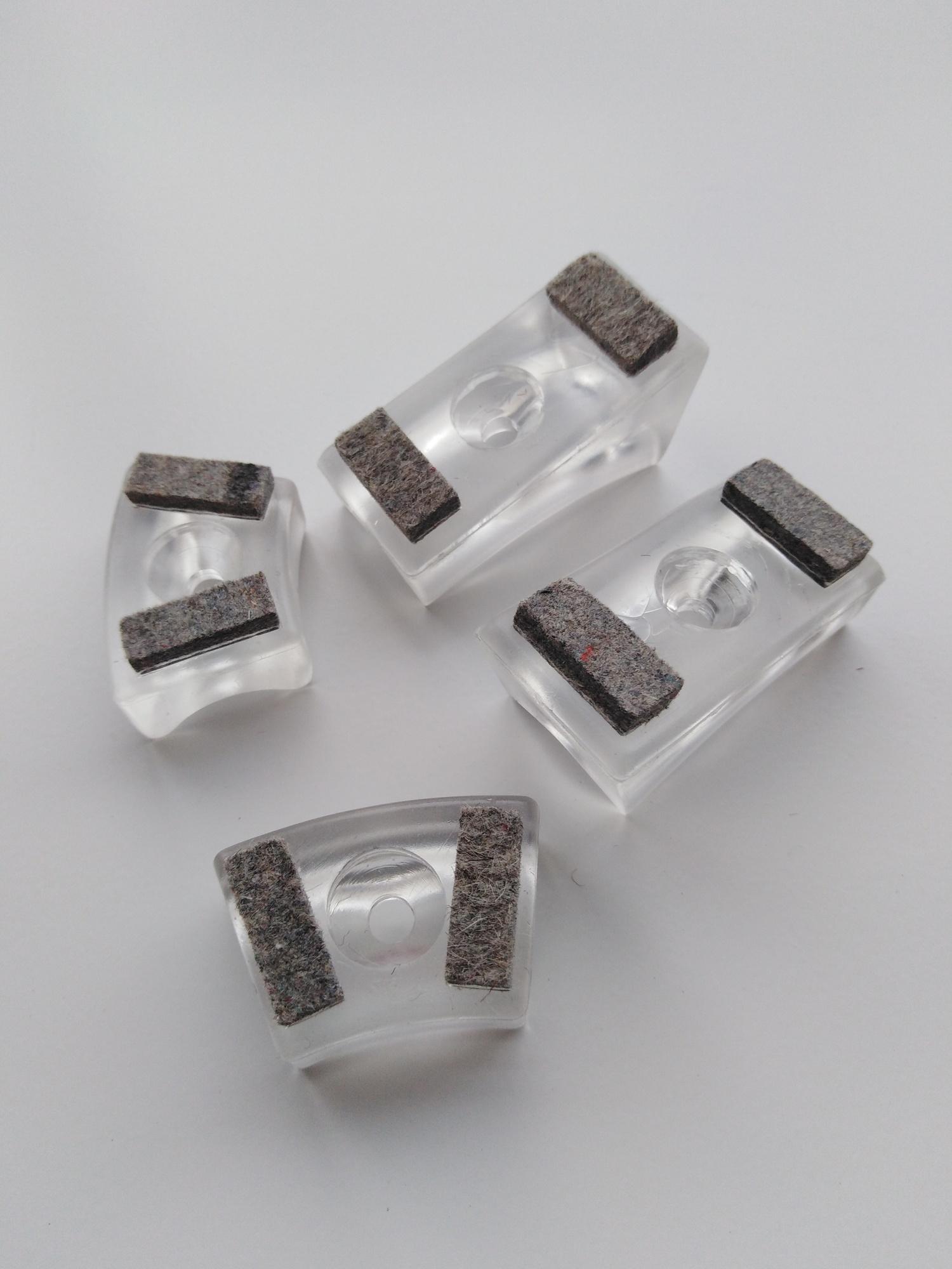 Gleiter für Freischwinger Stühle Thonet Kunststoffgleiter mit Filzeinlage transparent