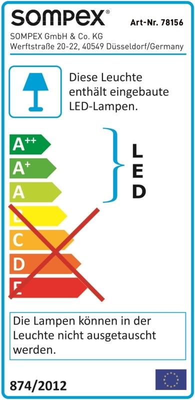 Troll Outdoor LED Stehleuchte mit Akku Sompex Weiß