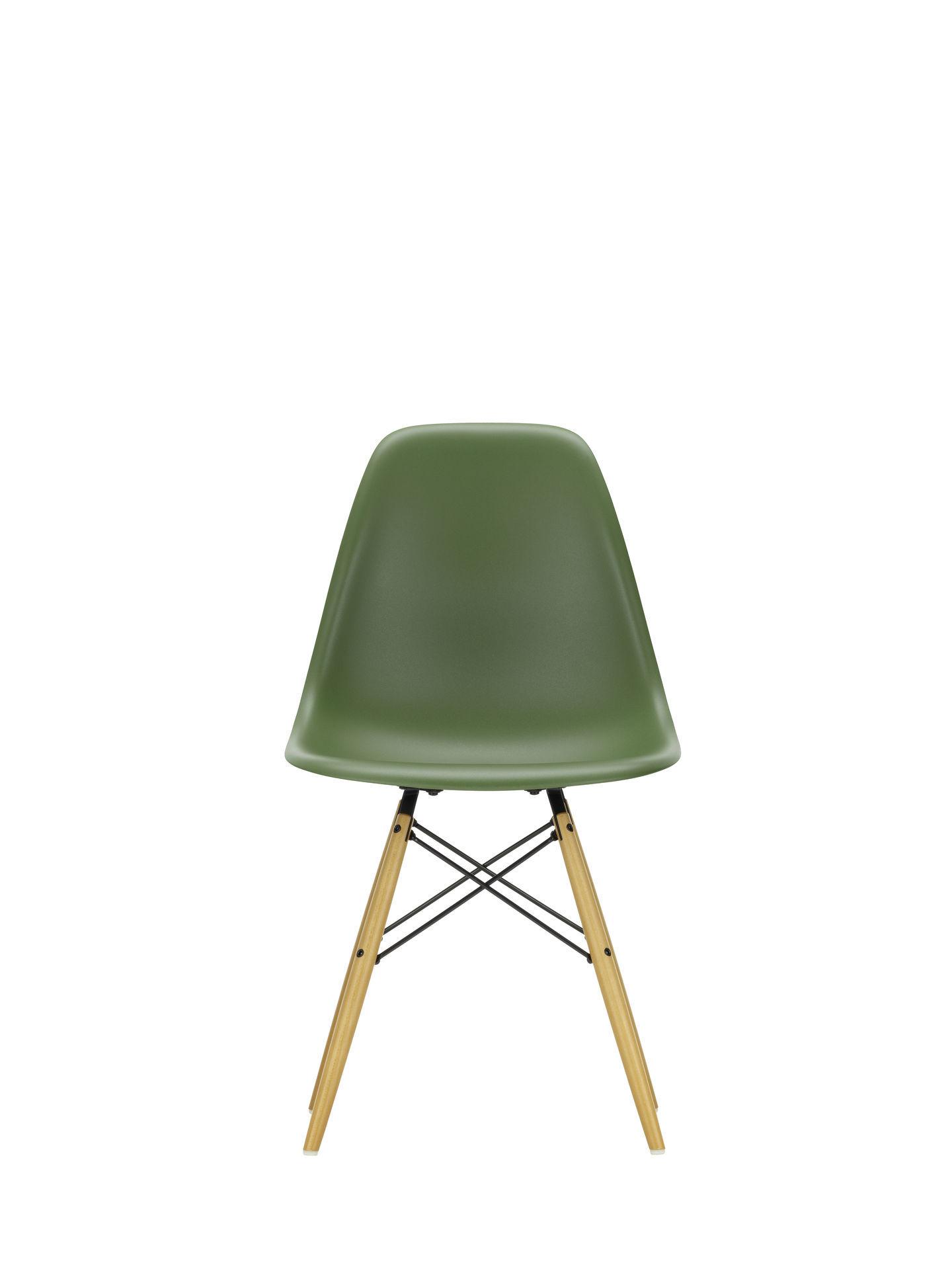 Eames Plastic Side Chair DSW Vitra Ahorn gelblich-Tiefschwarz
