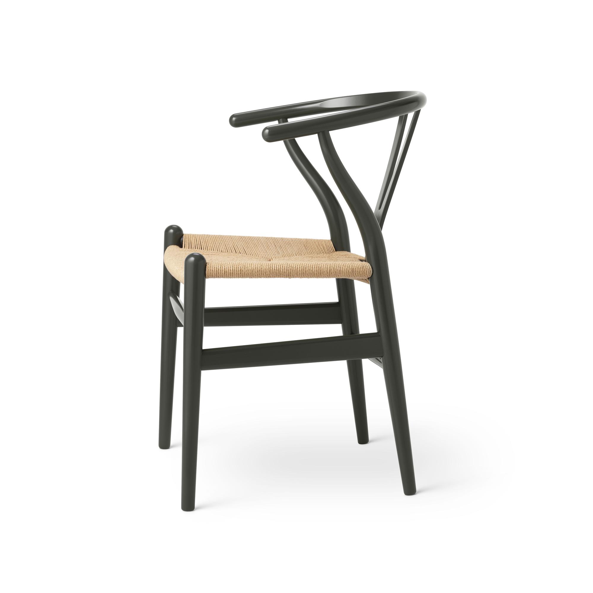 CH24 Wishbone Chair Harmony Deep Olive Carl Hansen & Søn