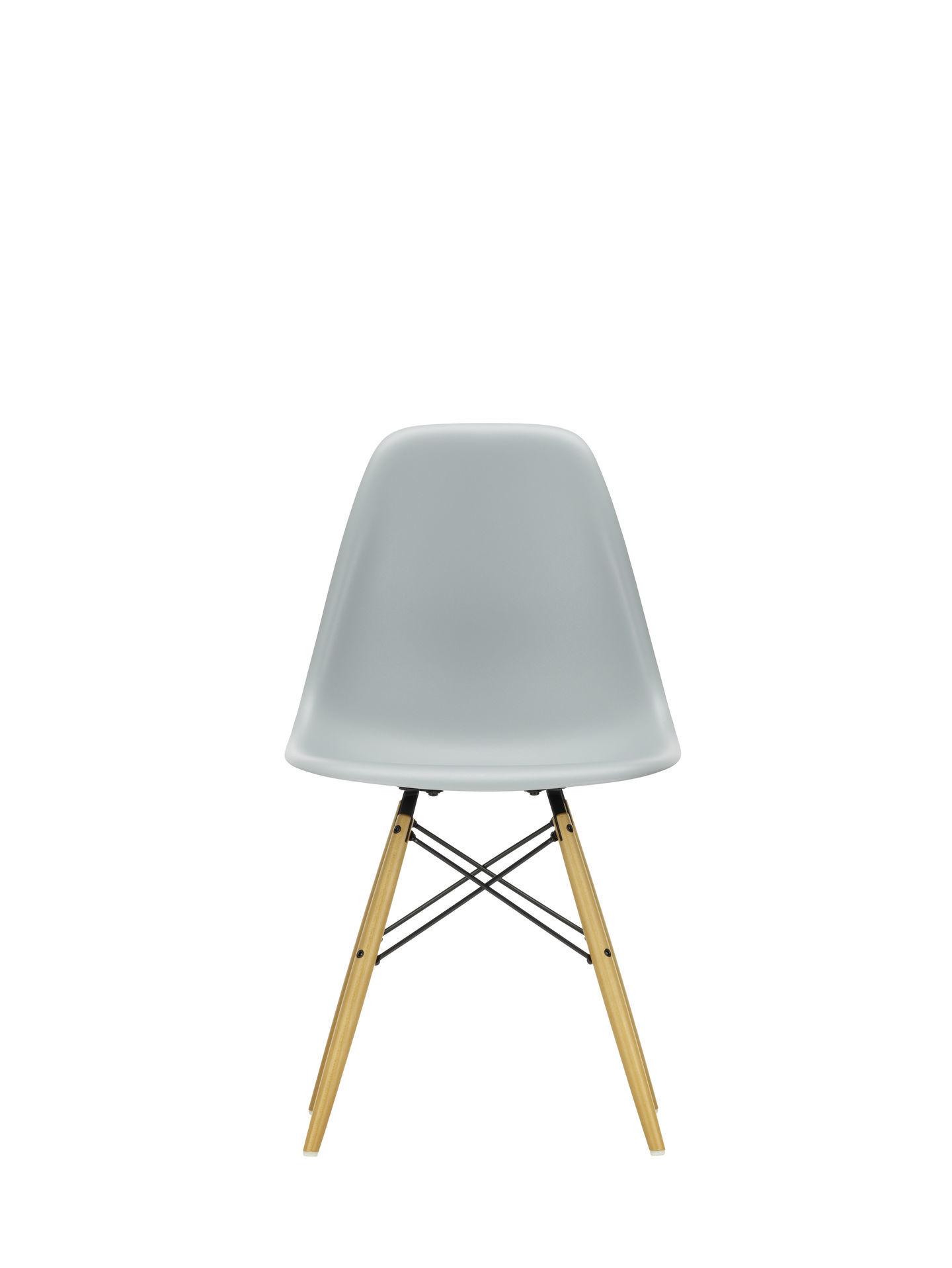 Eames Plastic Side Chair DSW Stuhl Vitra Esche honigfarben-Tiefschwarz