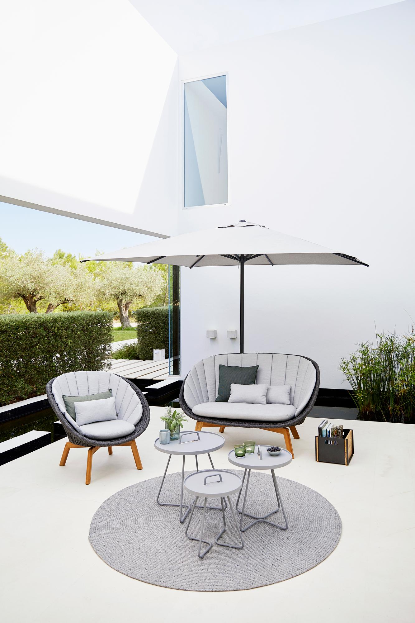 Classic Parasol Sonnenschirm Cane-Line H 229 x Ø 240 cm
