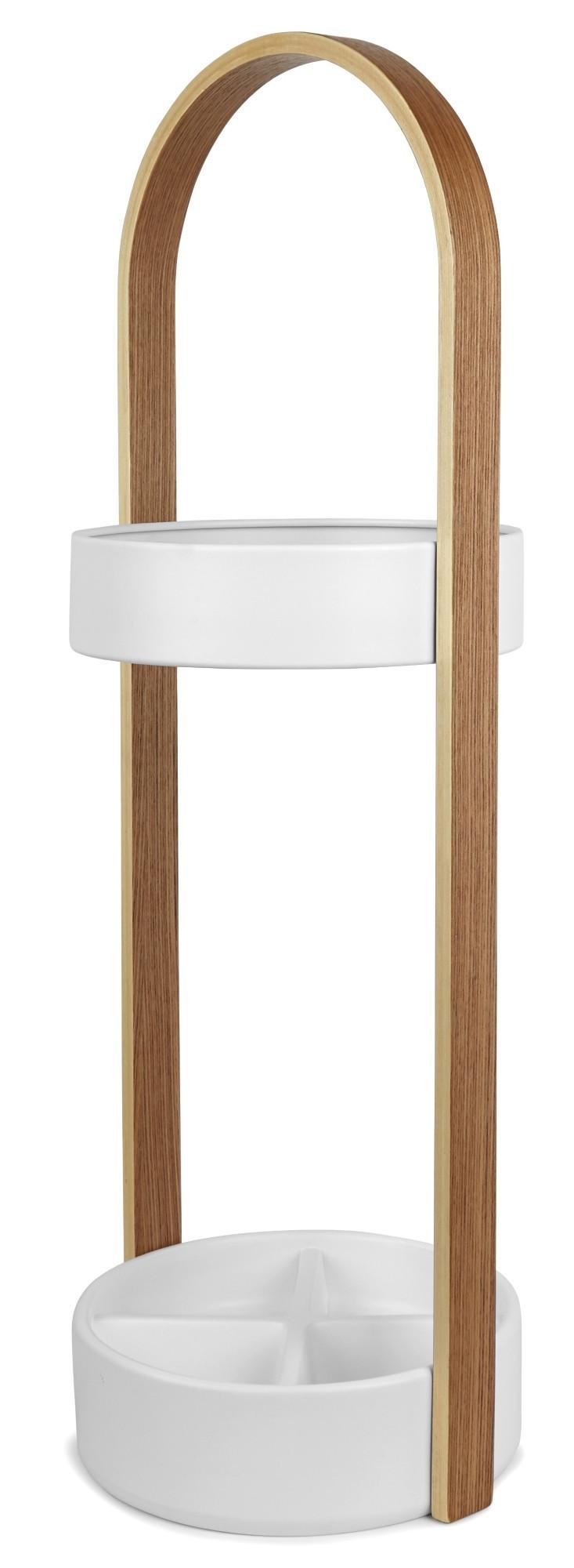 Hub Umbrella Stand Schirmständer Umbra-weiss / natur