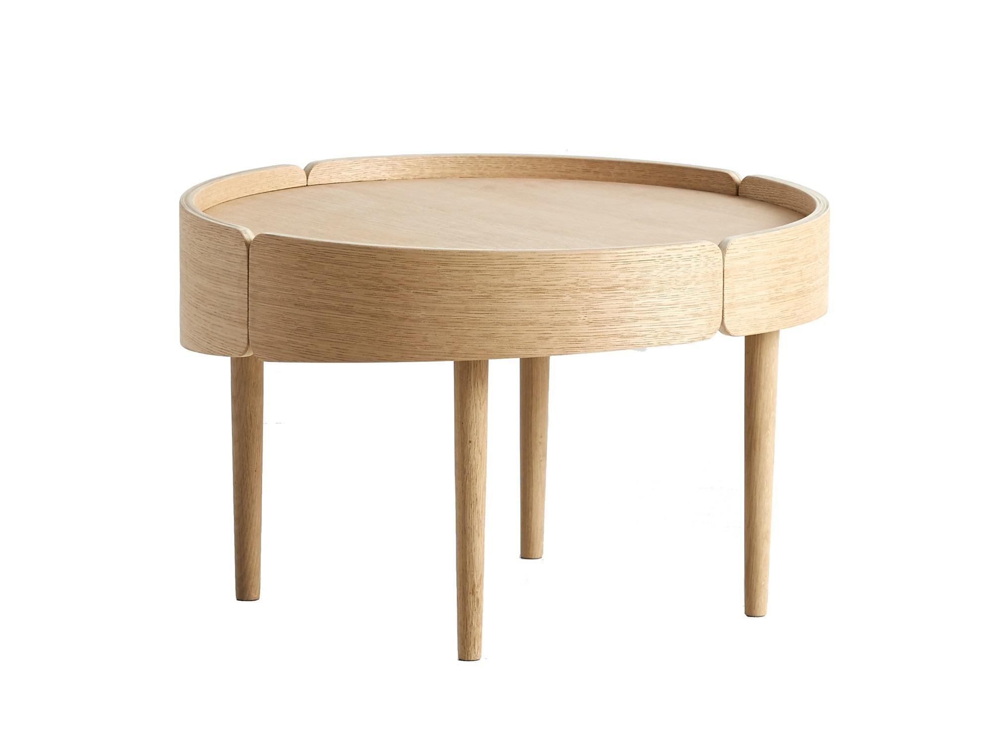 Skirt coffee table Beistelltisch groß Woud-Eiche