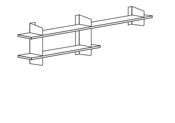 3/ B 100 cm + B 160 cm oben x H 67 cm