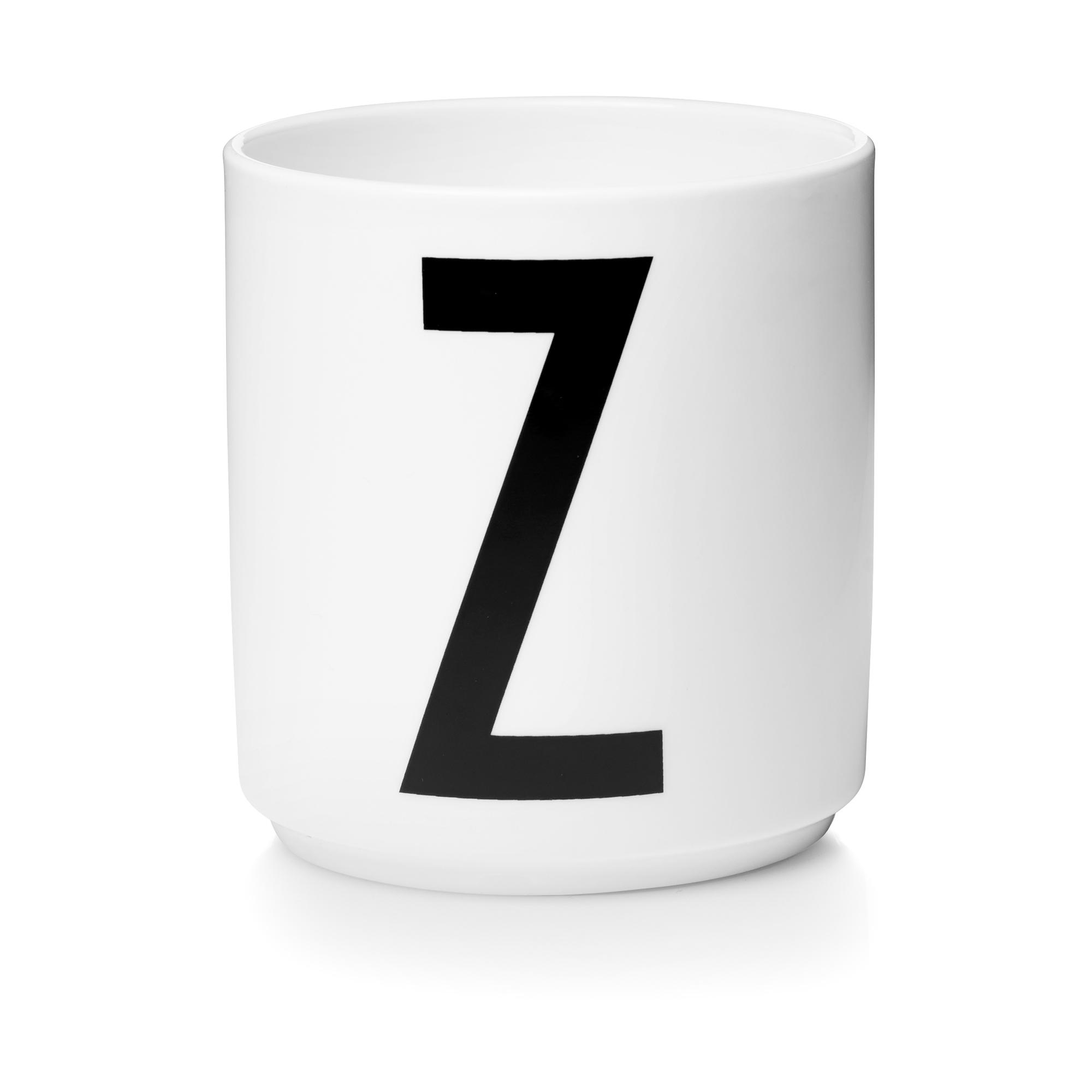 Buchstabenbecher / Porzellantasse Design Letters Z