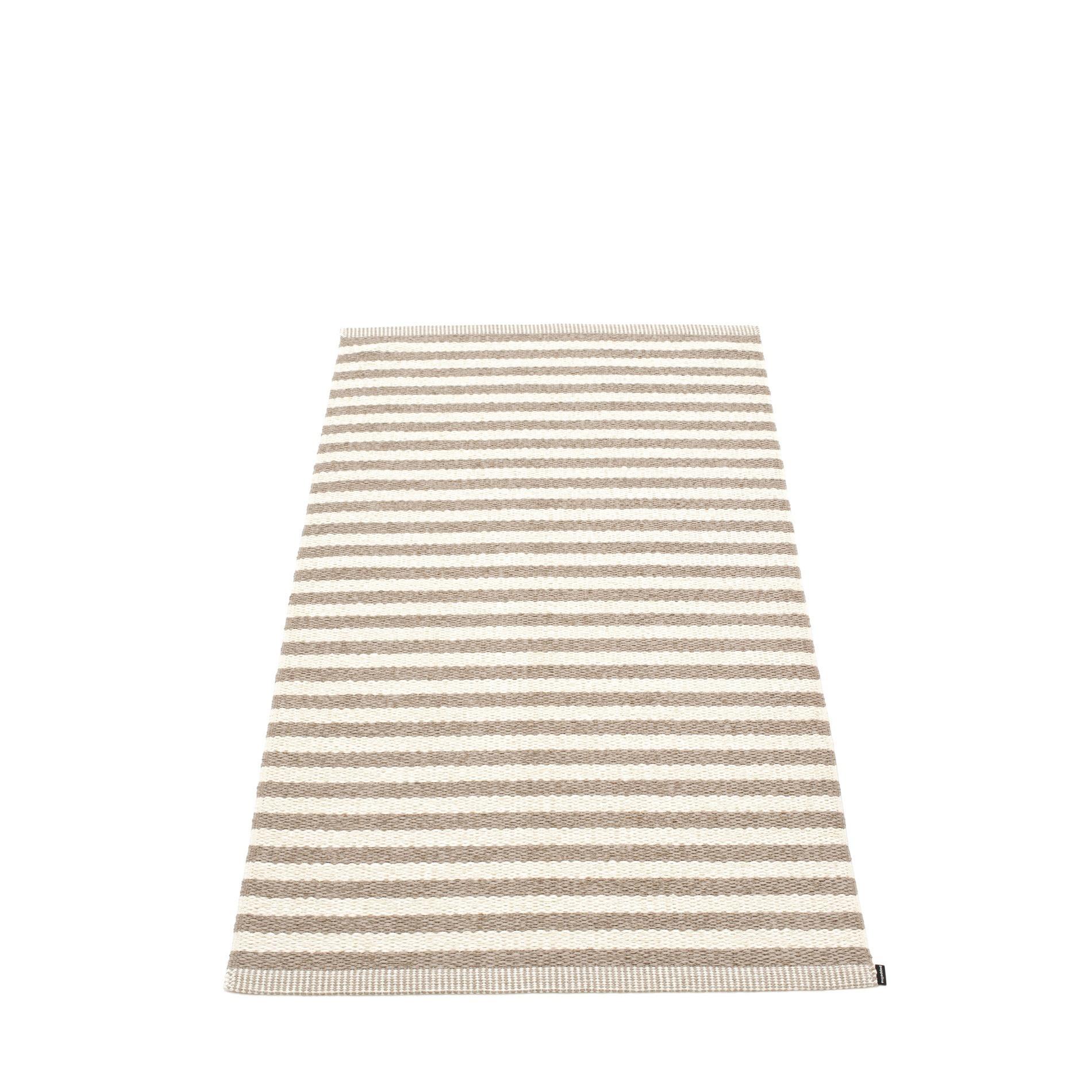 Duo Kunststoffteppich 85x160 cm Pappelina Schlamm