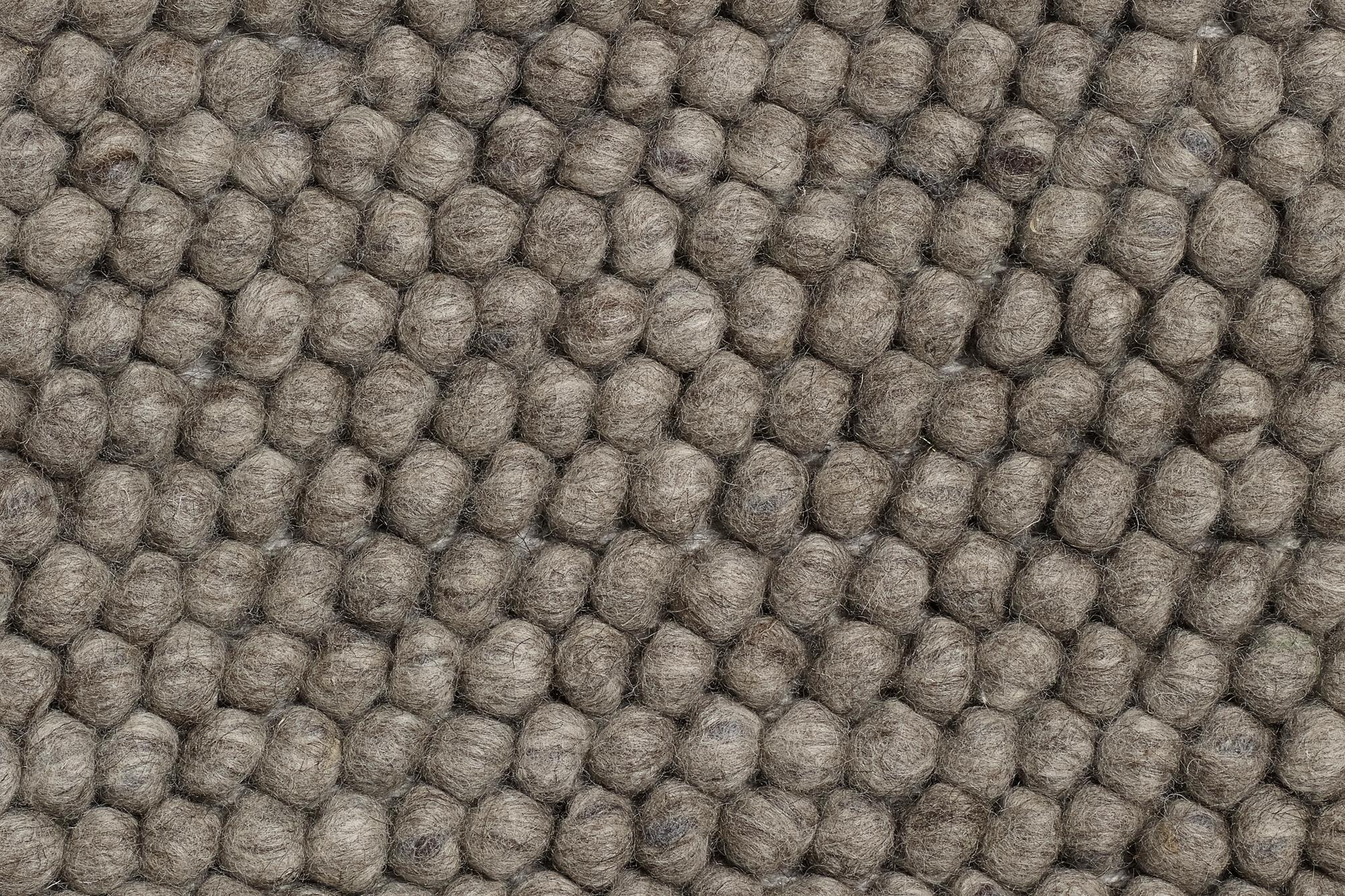 Peas Teppich L 300 cm Medium grau Hay