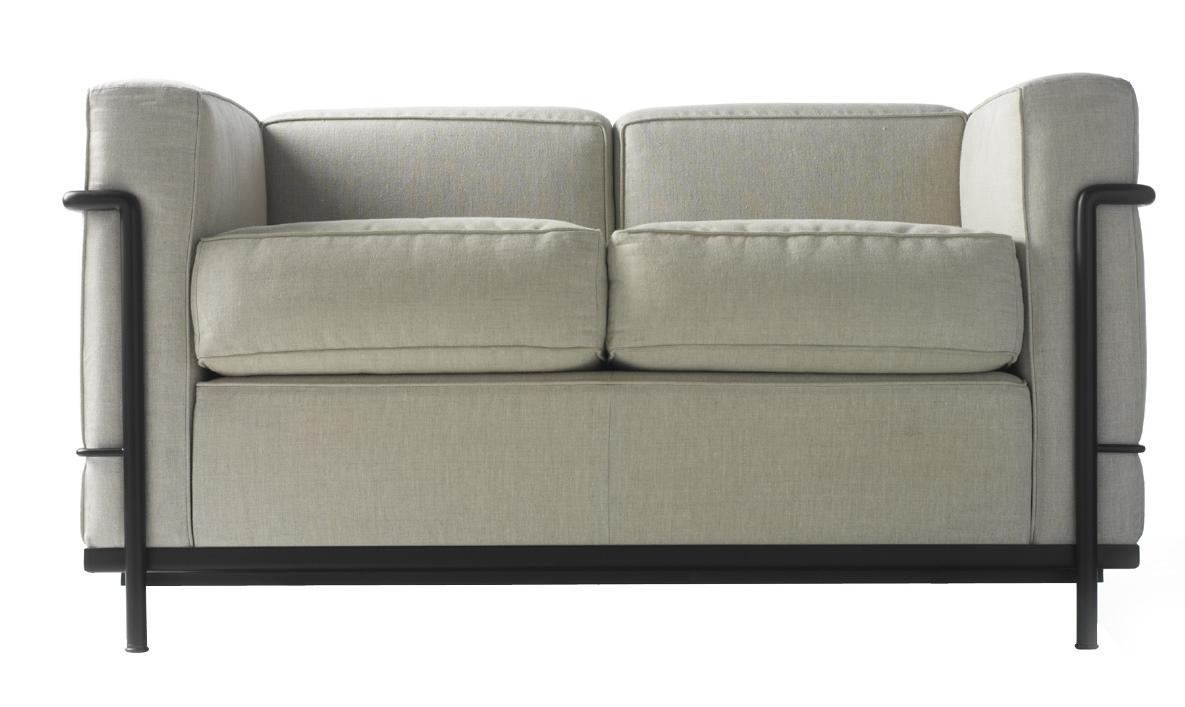 LC2 Sofa Zweisitzer Gestell lackiert Cassina