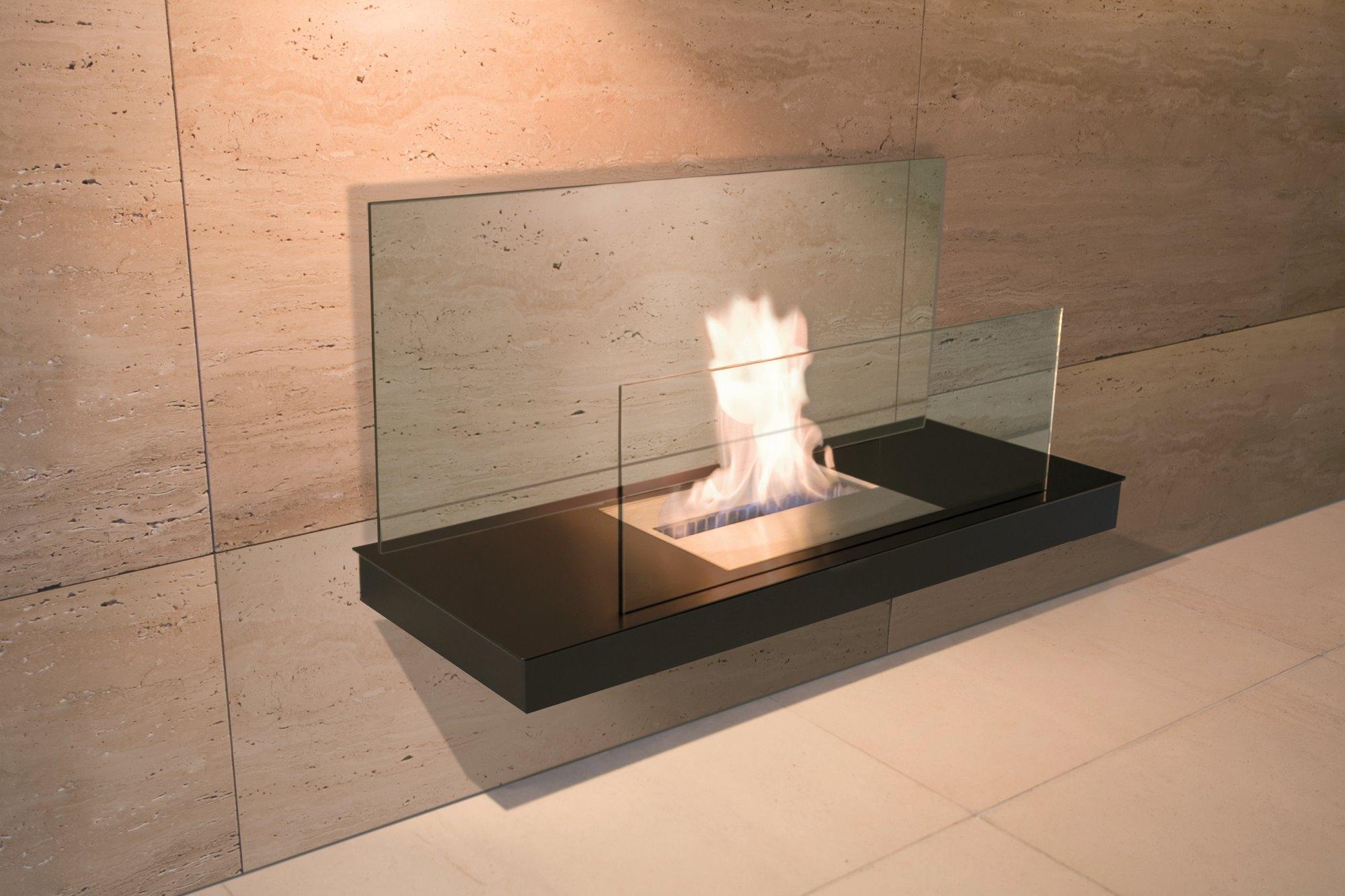 Stahl schwarz gepulvert / Glas klar