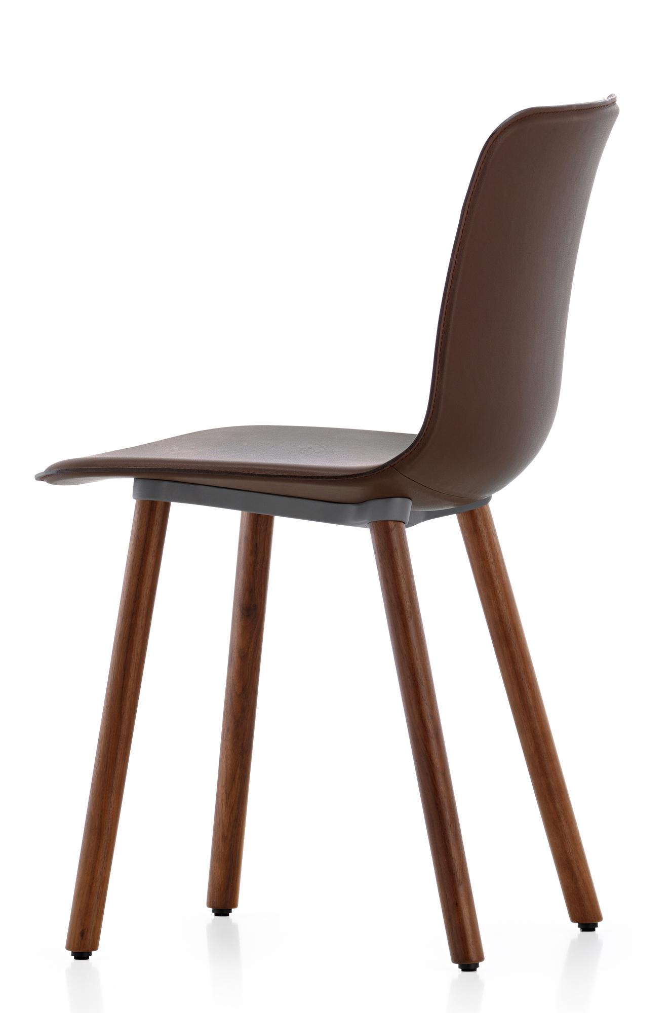 Hal Leather Wood Stuhl Vitra