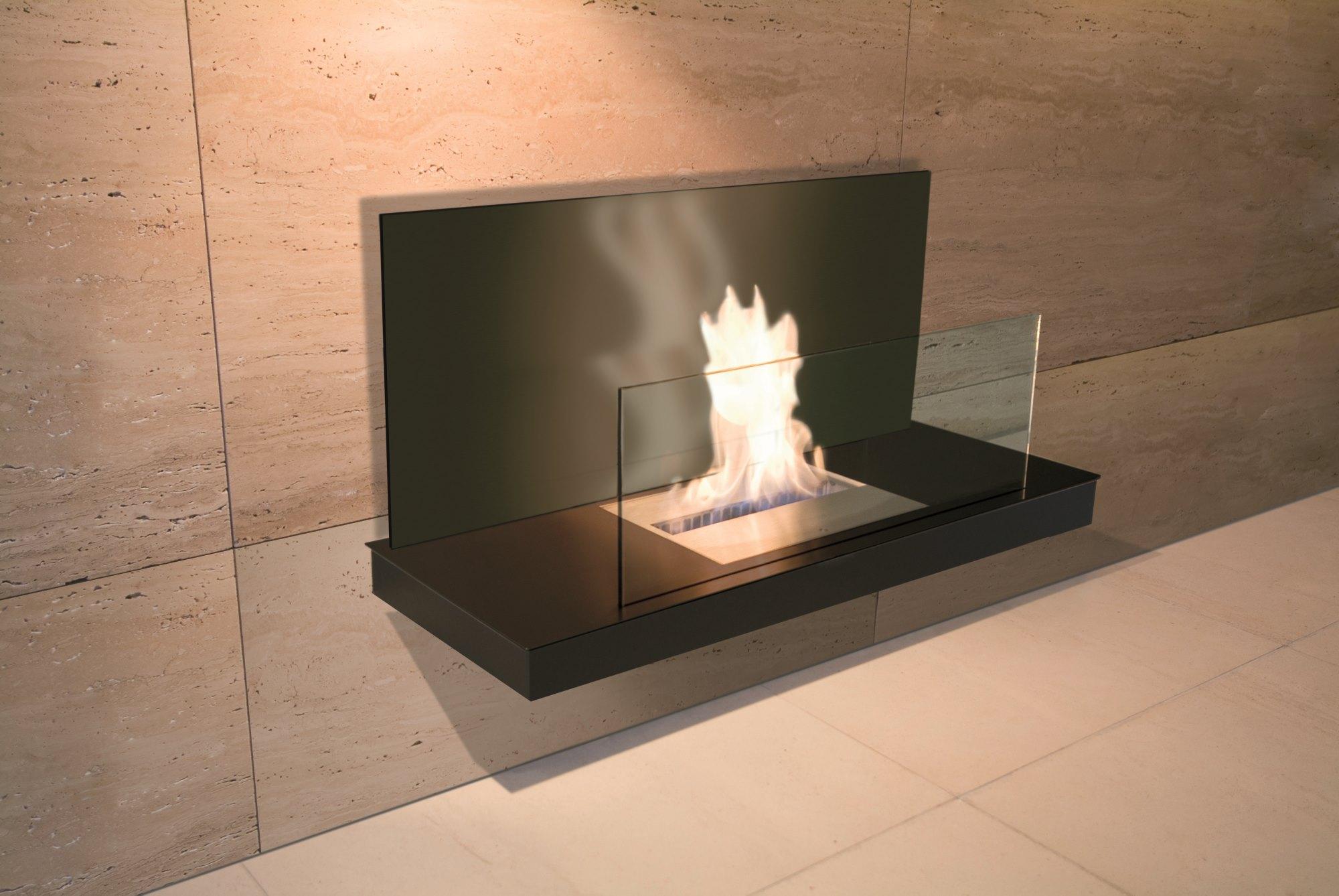 Stahl schwarz gepulvert / Glas schwarz