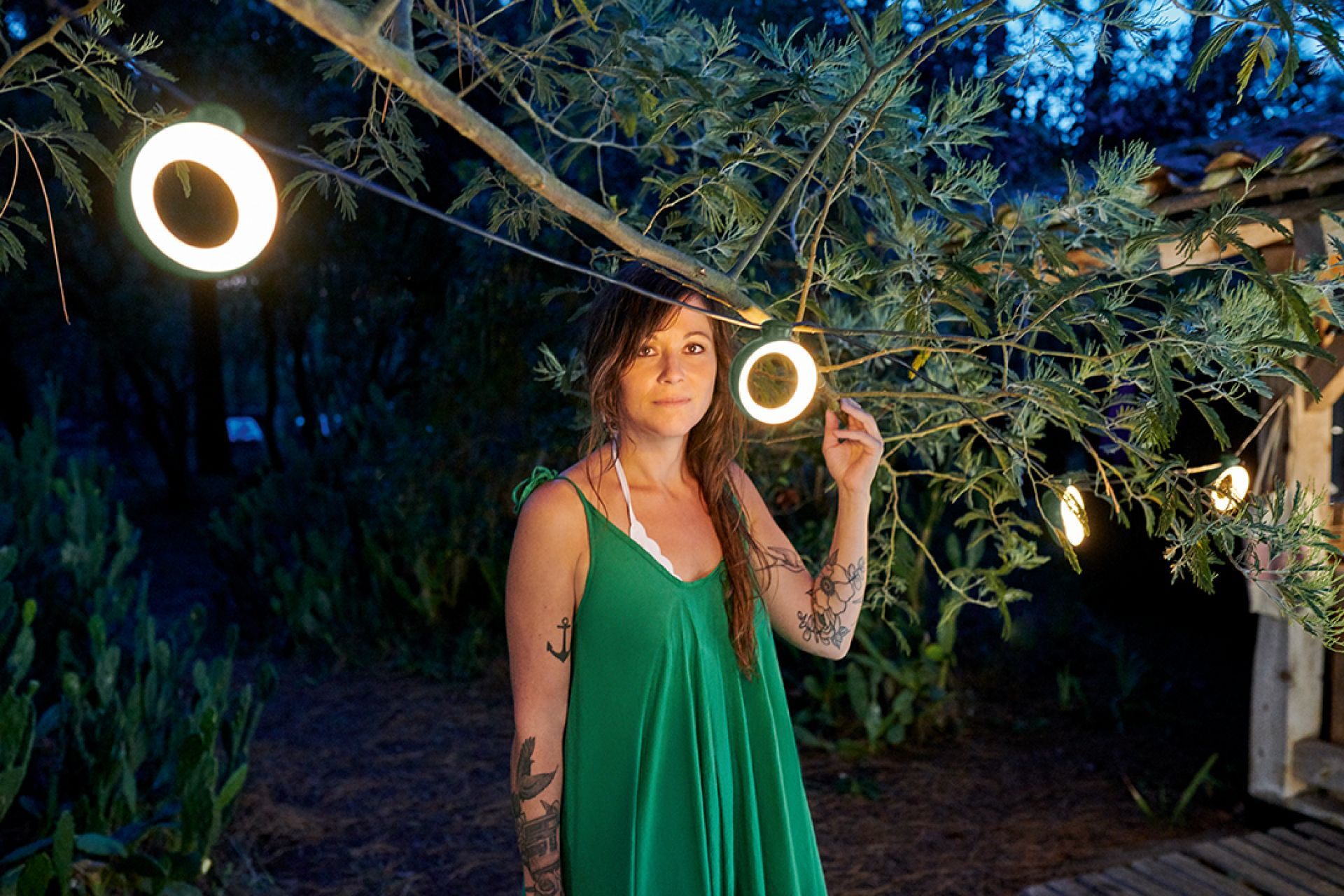 Hoop LED Lichterkette Outdoor Fermob Cactus