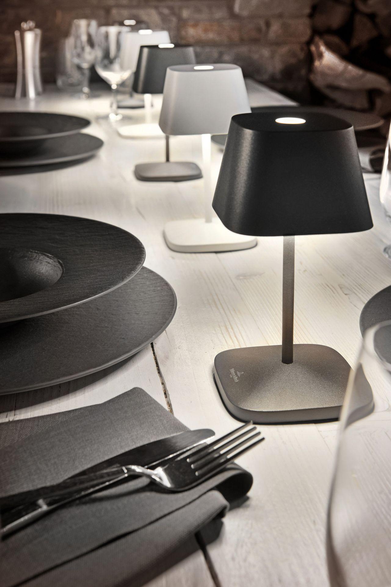 Neapel Tischleuchte mit Akku schwarz Villeroy & Boch