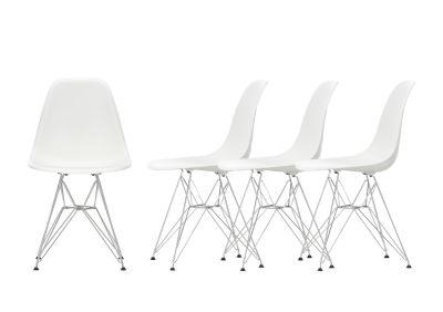 Aktion Eames Plastic Side Chair DSR Stuhl 4-er Set Vitra