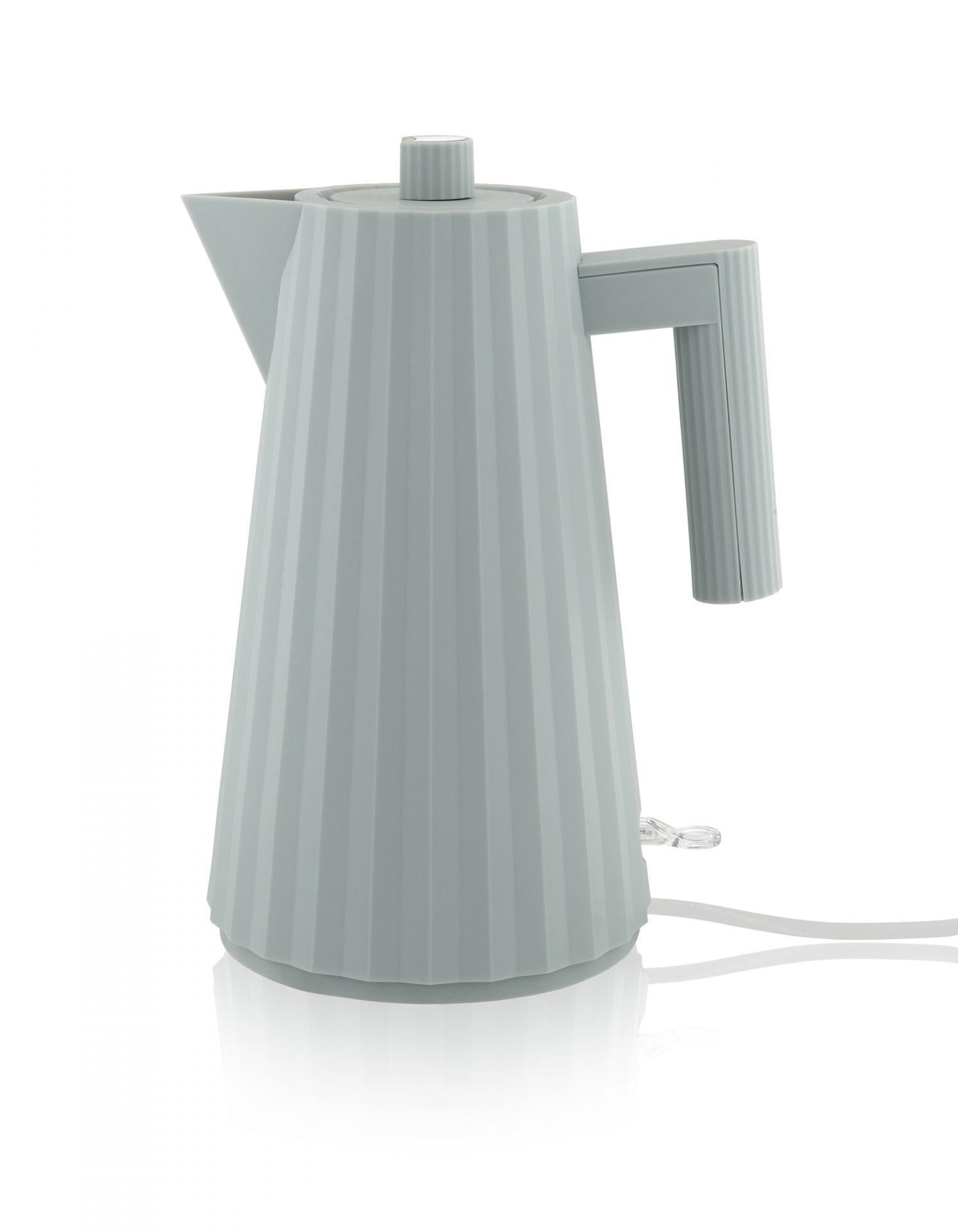 Plissé Wasserkocher Grau Alessi