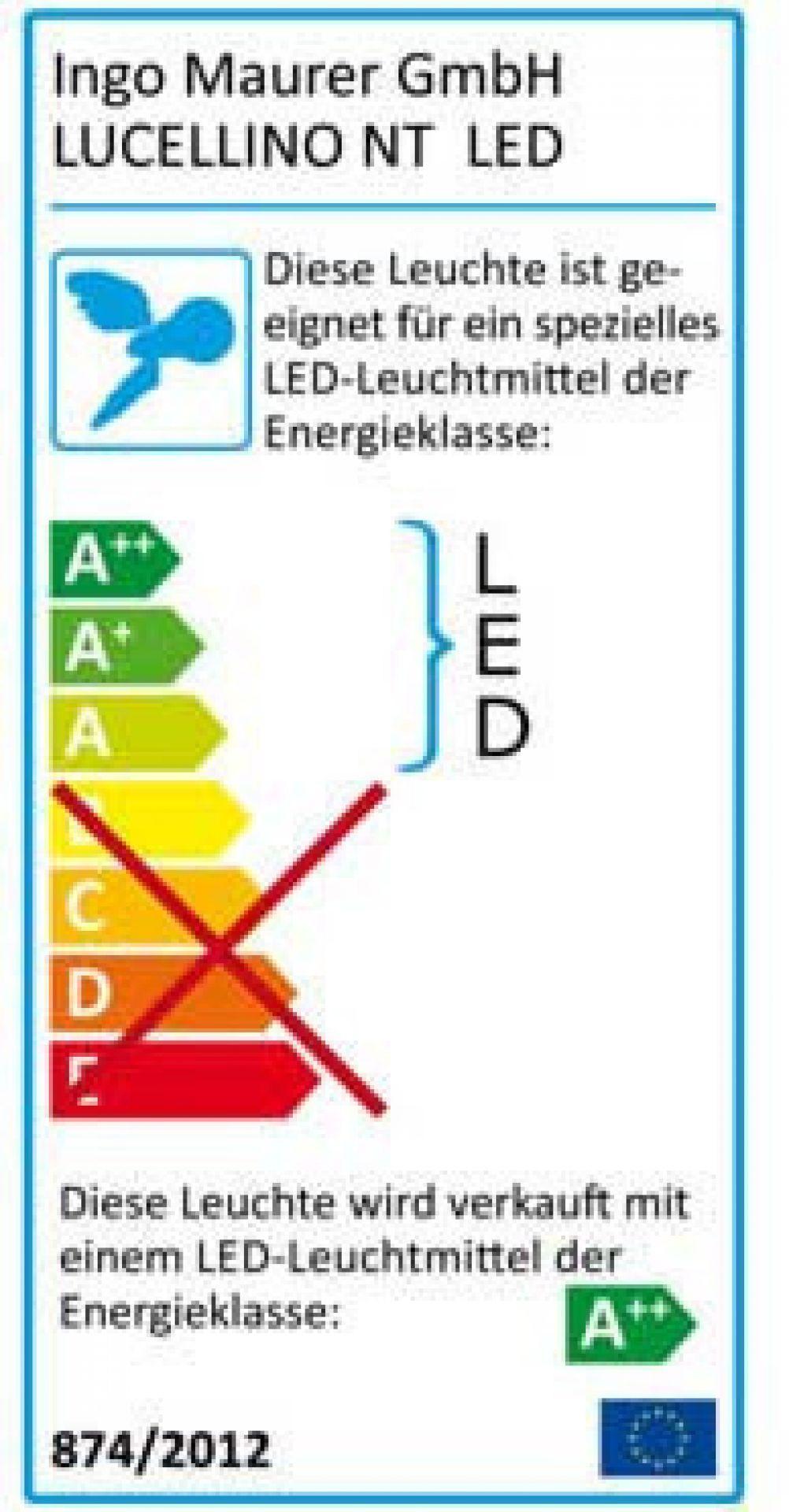 Lucellino NT LED Wandleuchte Ingo Maurer