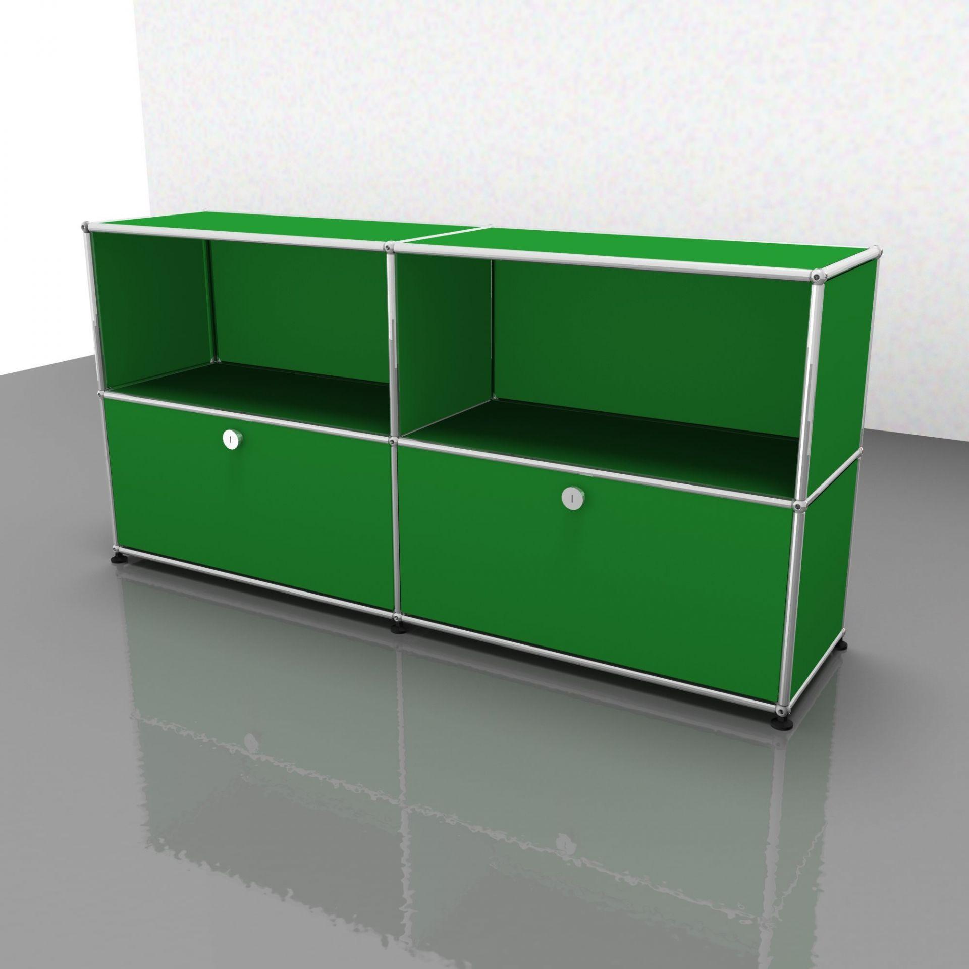 USM Haller Sideboard Schubladen -grün