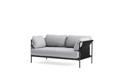 Can 2-Sitzer Sofa Hay Canvas Schwarz