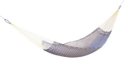 Ama - Hammock Hängematte Ok Design-blau / weiß
