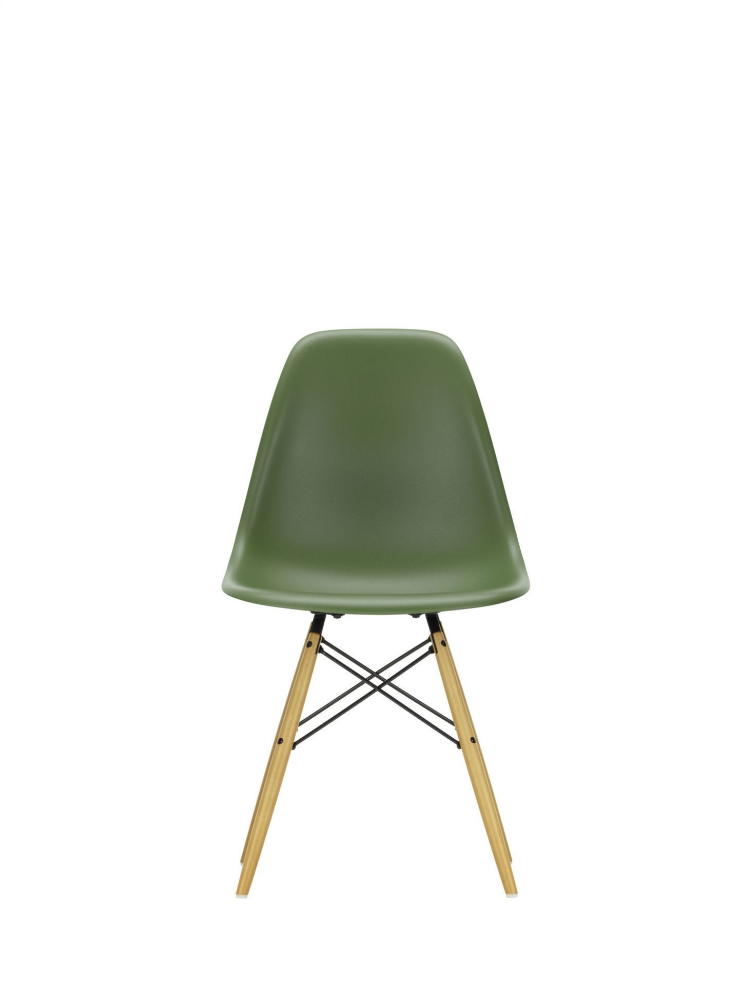Eames Plastic Side Chair DSW Vitra Ahorn gelblich-Weiss
