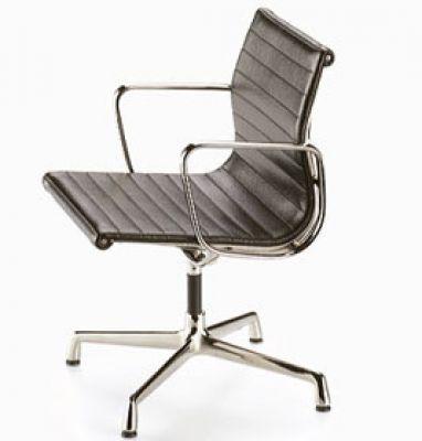 Aluminium Chair Drehstuhl Leder [1958] Miniatur Vitra