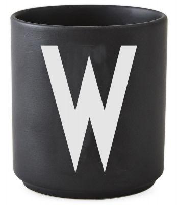 Buchstabenbecher Schwarz Design Letters-W
