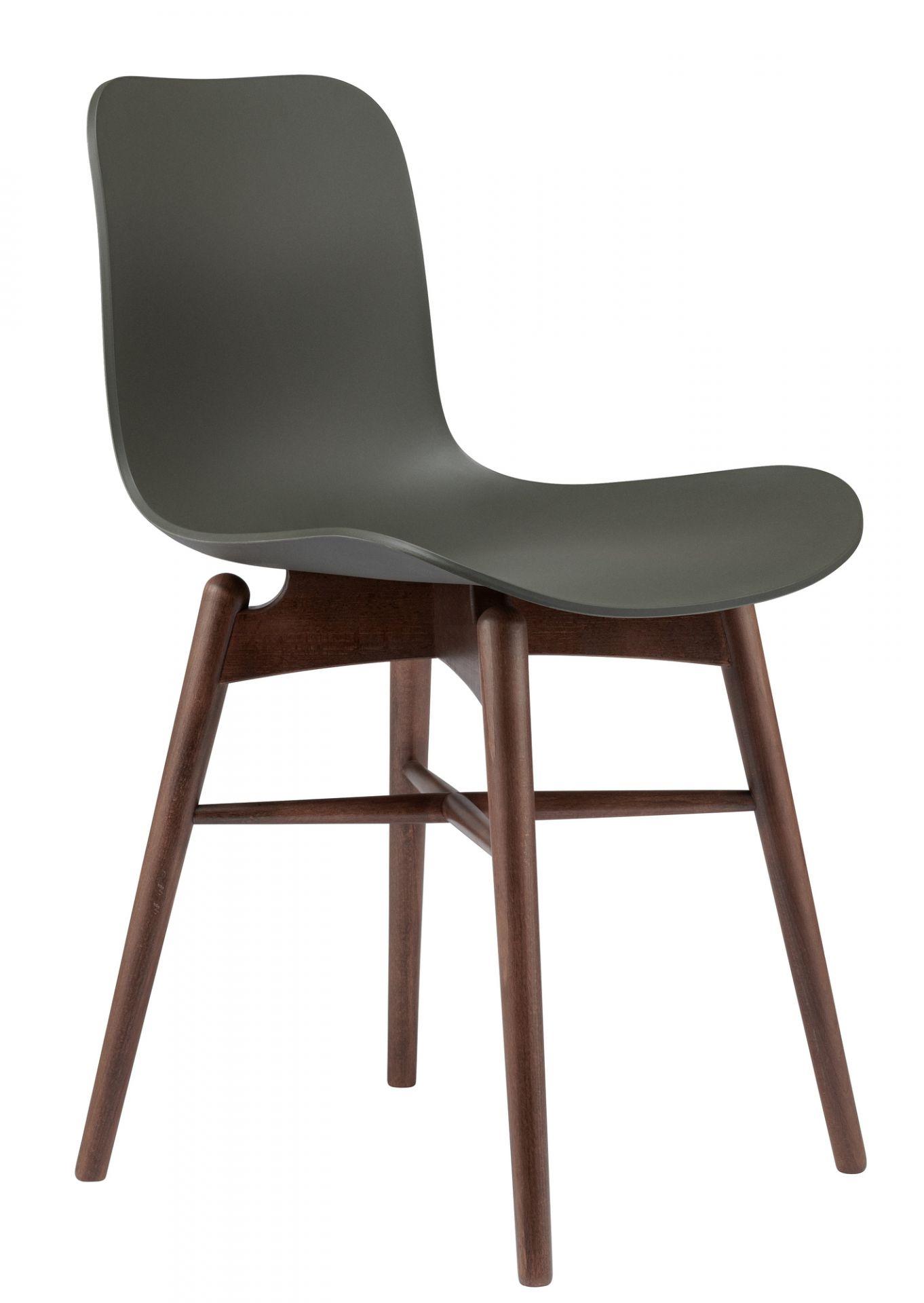 Langue Original Dining Chair Stuhl NORR11 Eiche natur Burgundy