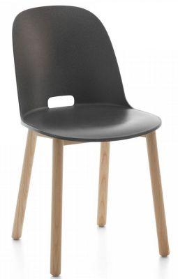 Alfi Chair Stuhl hoher Rücken Emeco-dunkel grau