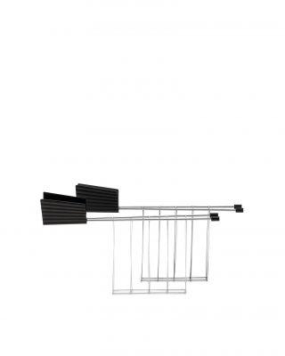 MDL08RACKB Plissé Toasterzangen 2er-Set schwarz Alessi
