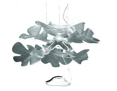 Chlorophilia Pendelleuchte Struktur Chrom Diffusor transparent Artemide