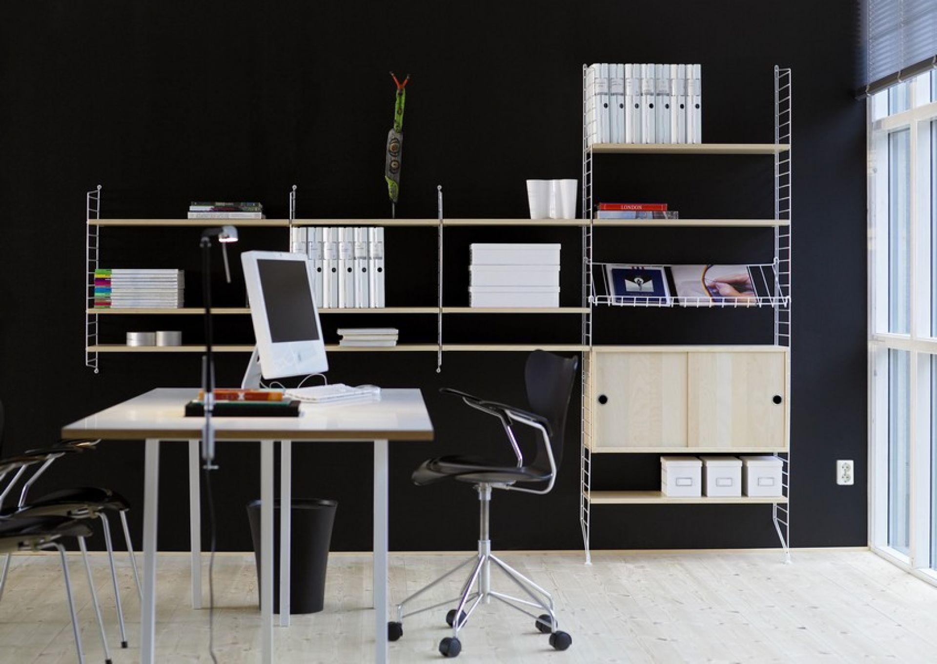 String Wand Regalsystem 2 Seitenwände Tiefe 20 cm String Furniture