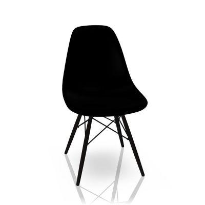 Eames Plastic Side Chair DSW Stuhl Vitra Ahorn schwarz-Tiefschwarz