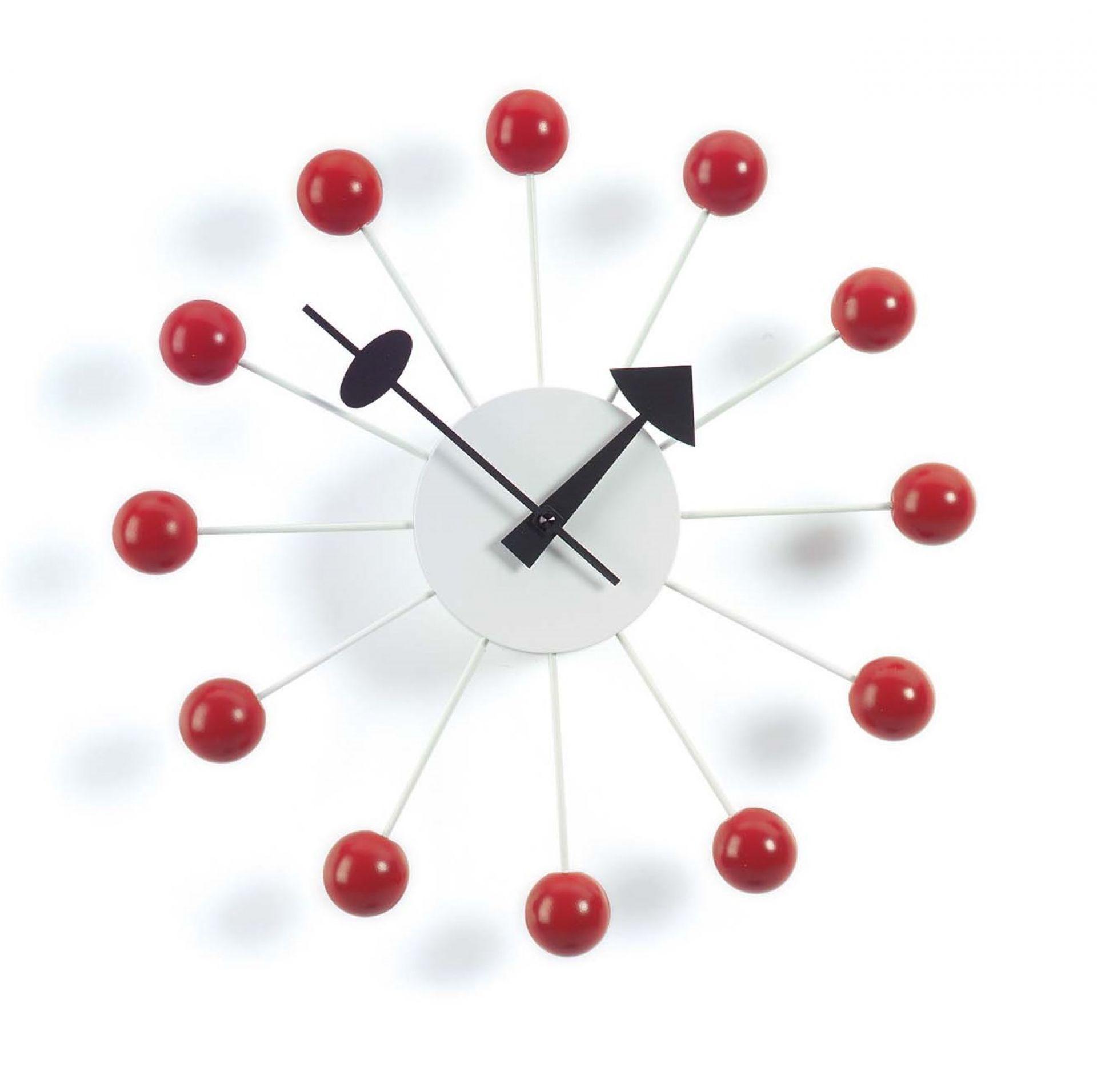 Ball Clock Wanduhr - rot Vitra