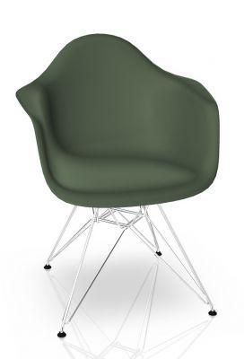 Eames Plastic Arm Chair DAR Stuhl Vitra Verchromt - Forest